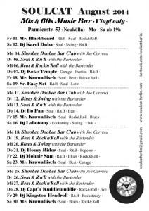 SOULCAT Programm August 2014