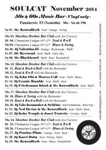 Soulcat Programm November 2014