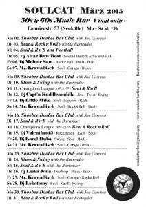 Soulcat Programm März 2015